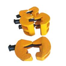 Braçadeira de trilho soldável para fixação de trilho de guindaste