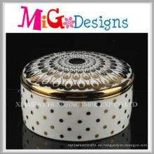 Joyero de cerámica decorativo casero moderno moderno del nuevo diseño
