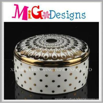 Novo design moderno casa decorativa cerâmica jóias caixa