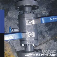 Bloque doble y válvula de bola de cierre con brida de purga (Q41F)