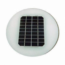 Round Solar Module for Solar Courtyard Lamp, with 2W Peak Power