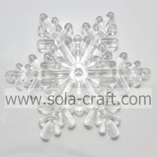 China Supplier for Acrylic Flower Beads,Plastic Flower Beads,Flower Shaped Beads Leading Manufacturers Wholesale Large Size Snowflake Faceted Clear Crystal Acrylic Beads  export to Eritrea Importers