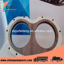 Pompe à béton pièces de rechange sermac spectacle usure plaque et anneau de coupe avec la production