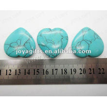 35MM Heart shape green turquoise stone,high polished,high quality,natural heart shape stone