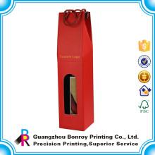 Caja de regalo de la botella de vino rojo de alta botella de encargo de alta calidad al por mayor