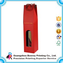 High Quality Custom Single Bottle Red Wine Bottle Gift Box Wholesale