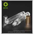 Clear or frosted glass 10ml roll on bottle for cosmetic/makeup packing