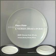 Plaque de pizza ronde en céramique de 12,5 pouces pour BS130125B