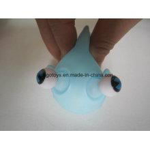 Blue PVC mini brinquedos de peixe