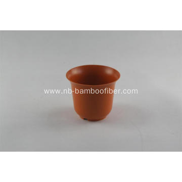 Simple bamboo fiber horn opening pot