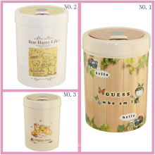 Plastic Flip-on Waste Bin for Home (FF-5217-3)