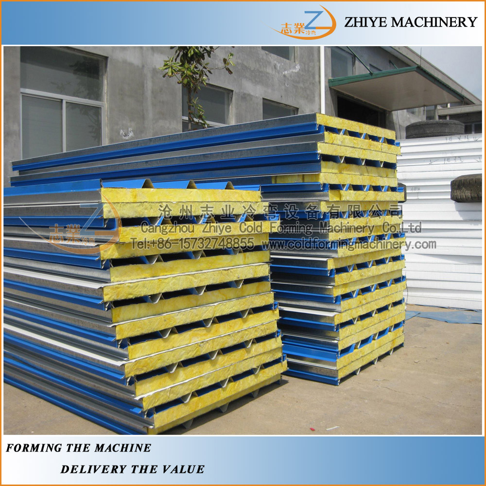 New Style Rock Wool Sandwich Panel Production Line