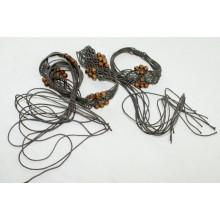 Модные западные вощеные веревочные плетеные ремни для одежды