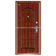 Защитные двери из нержавеющей стали, арочный верх и панель Наружная безопасность Входные стальные двери