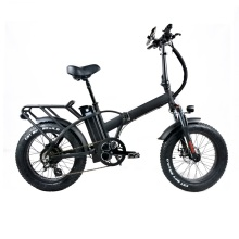 Fat folding bike 48v 500w motor electric bicycle