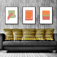 Современная абстрактная живопись Растянутая и обрамленная картина