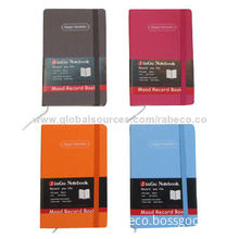 Bright-colored Fabric Cover Notebook with 1C Silkscreen Printing
