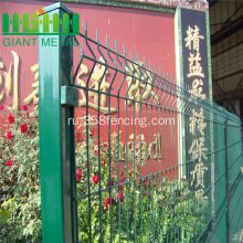 Green+Vinyl+Coated+Welded+Wire+Mesh+Fence