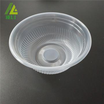 transparenter Plastiksuppenteller