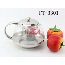 Stainless Steel Glass Tea Pot (FT-3301-XY)