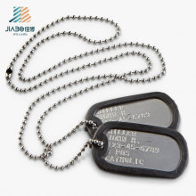 Custom Good Quality Engrave Blank Metal Dog Tag for Military