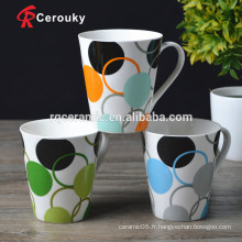Sans tasses en porcelaine fine au plomb et au cadmium
