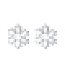 Women′s Fashion Rose Gold Snowflake - Shaped Earrings
