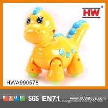Высокое качество 21см электрические мигающий мультфильм Перемещение динозавров игрушка