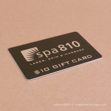 Impression personnalisée clair stratifié affaires achats carte en plastique