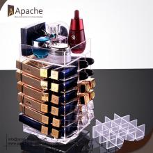 Europe style for Best Cosmetic Displays,Cosmetic Counter Display,Cosmetic Display Rack for Sale Rotatable Acrylic Lipstick Storage Display Box supply to Cameroon Exporter