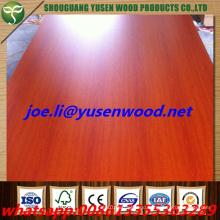 High Gloss Wood Grain UV Coated MDF Board /Wood Grain Melamine Parper Laminated