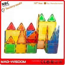 Los bloques de construcción magnéticos plásticos juegan los juguetes educativos 2015