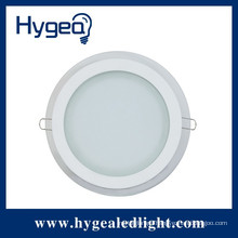 PF>0.9 85RA 100LM/W 2years warranty glass ultra-thin led recessed ceiling panel light