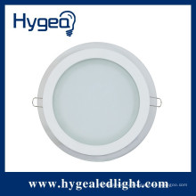 12W SMD2835 dimmable привело круглые стеклянные панели света