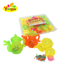 Cool dragon cartoon cup toy with mini fruity hard ball candy