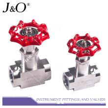 Válvula de aguja de acero inoxidable de alta presión de acero inoxidable 316