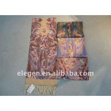Wool winter long scarf