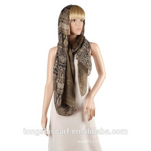 2016 Spring/Summer Lady's classic printed polyester voile double layer long scarf shawl