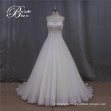 Élégant chérie bretelles perles robe de mariée