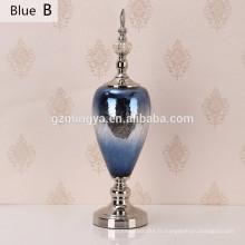 Home décoré bouteille lampe moderne décoration de décoration bleue décoration de luxe décoration de maison