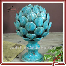Azulejo de crepitar azul cerámica decoración de casa de loto