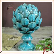 Blue crackle vitrage décoration en céramique lotus