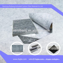 Paño de fibra de carbono activado para calefacción de piso