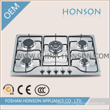 Stainless Steel 110V-220V Pulse Ignition Cast Iron Gas Hob