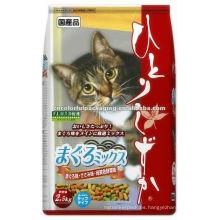 levántese el bolso de la bolsa del alimento del gato / la bolsa de aluminio de pie / el gato personalizado trata la bolsa