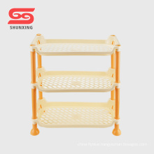 Hot selling plastic storage rack folding shelf kitchen for sundries