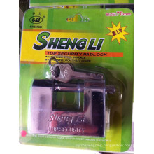 Chrome Plated Hardened Solid Steel Rectangular Padlock with Vane Keys