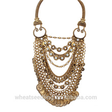 Mode Schlange Kette Anti-Silber Gold Münze Halskette hawaiianischen Strand Halskette