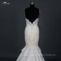 LZ169 Vestido de noiva Aliexpress Heavy Beading Vestido de noiva com sereia de trem longo