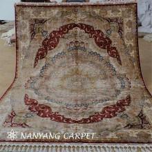 6.6`x9.3`Hand Knotted Oriental Turkish Silk Carpet